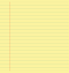 yellow lined paper vector image