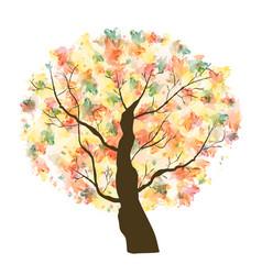 autumn paint textured art tree vector image