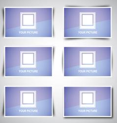 Banner Shadows vector image