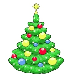 Beautiful christmas tree 2 vector