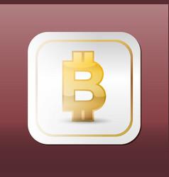 bitcoin virtual money vector image