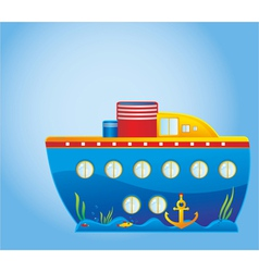 Childrens ship vector