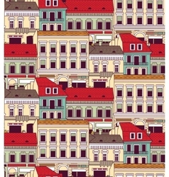 City buildings down town color seamless pattern vector image