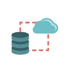 data storage sync icon vector image vector image