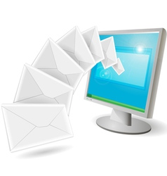 envelopes flying vector image vector image