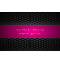 Geometric polygons background with pink place vector image vector image