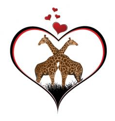 giraffe heart vector image vector image