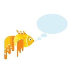Golden fish message vector
