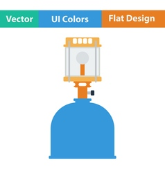 Icon of camping gas burner lamp vector image vector image