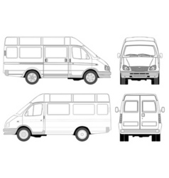 mini bus vector image