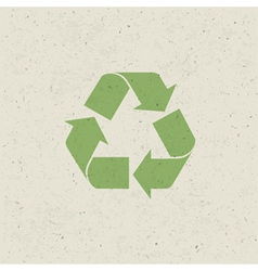 recycled design set vector image vector image
