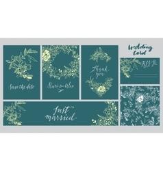 A set cards for wedding vector