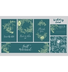 A set of cards for the wedding vector