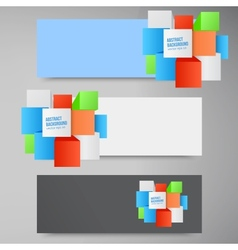abstract background Square 3d object vector image
