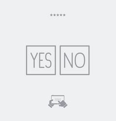 agreement box - minimal icon vector image