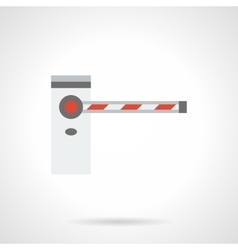 Automatic road barrier flat color icon vector