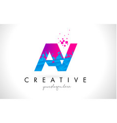 ay a y letter logo with shattered broken blue vector image