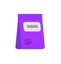 Bag of food for pets icon vector