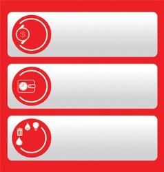 Bank icones vector