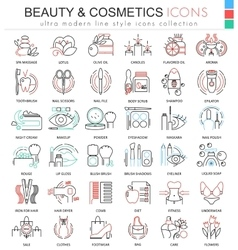 beauty and cosmetics ultra modern color vector image