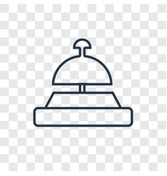 bell concept linear icon isolated on transparent vector image