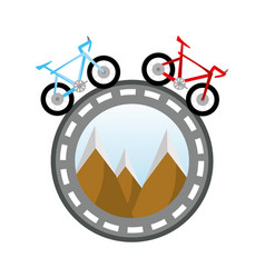 Bicycles around the world concept vector