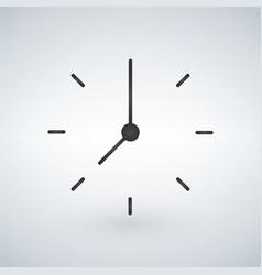 Black minimalistic clock design isolated on white vector