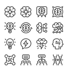 Brainstorm icon set vector