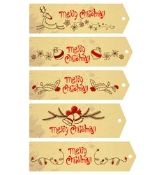 Christmas tags set vector image
