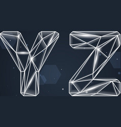 Constellation geometric font y-z vector