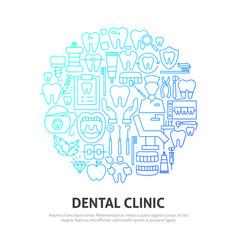 Dental clinic circle concept vector