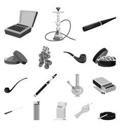 Design health and nicotine symbol set vector
