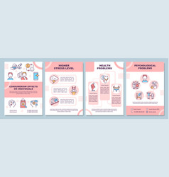 Effects of consumerism brochure template vector