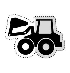 Excavator machine isolated icon vector