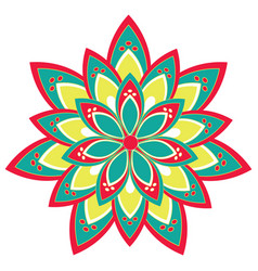 Flower mandalas vector