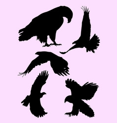 flying eagle silhouette vector image