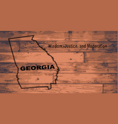 Georgia map brand vector