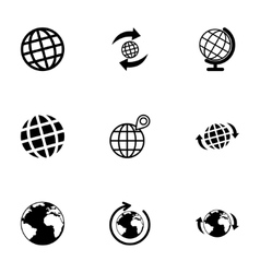 glode icon set vector image