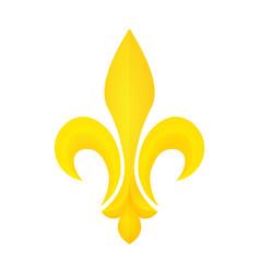 golden fleur-de-lis symbol vector image