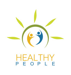 green health people logo vector image