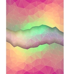 Greeting card made in polygonal style vector image