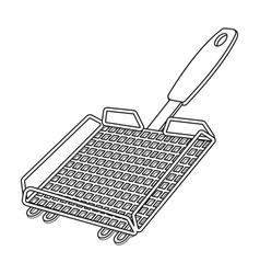 Grill grillbbq single icon in outline style vector