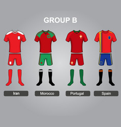 group b team jersey vector image