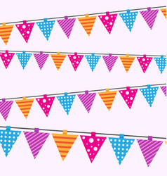 happy birthday card seamless pattern bright vector image