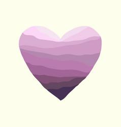heart-violet-wave vector image