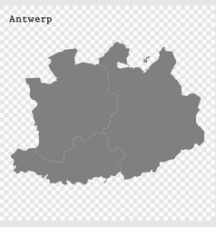 High quality mapis a province belgium vector
