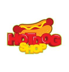 Hot dog logo sticker vector