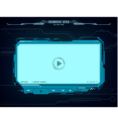 hud video player futuristic screen interface vector image