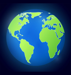 i with planet earth on dark background vector image