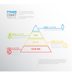 Infographic pyramid chart diagram template vector